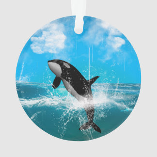 Orca jumping ornament