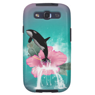 Orca jumping out of a flower samsung galaxy SIII cases