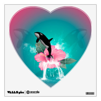 Orca jumping room sticker
