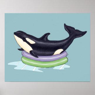 Orca kiddie pool poster