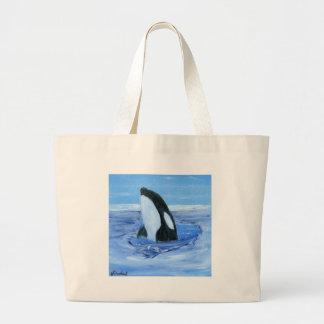Orca killer whale canvas bags