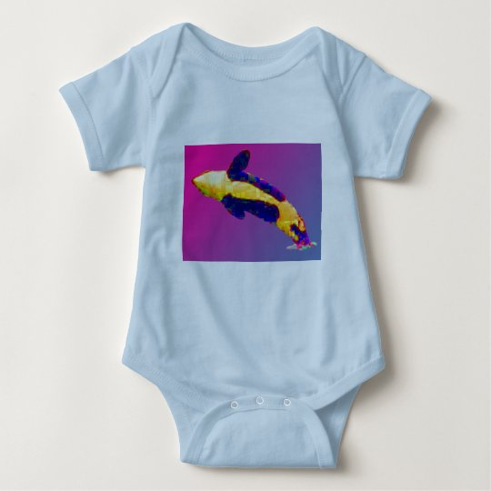 Orca Killer Whale Breaching in Bright Colors Baby Bodysuit