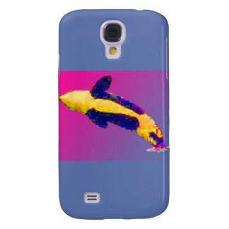 Orca Killer Whale Breaching in Bright Colors Galaxy S4 Case