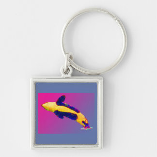 Orca Killer Whale Breaching in Bright Colors Keychain