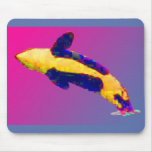 Orca Killer Whale Breaching in Bright Colors Mousepads