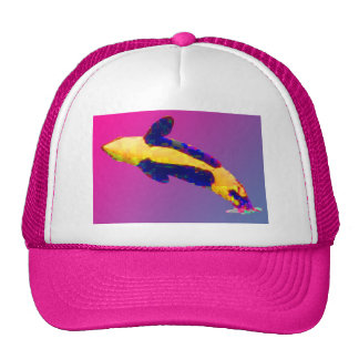 Orca Killer Whale Breaching in Bright Colors Trucker Hat