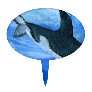 Orca killer whale cake topper