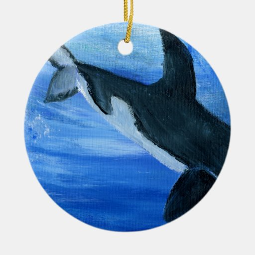 Orca killer whale ceramic ornament