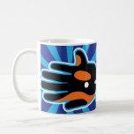 Hand shaped Orca Killer Whale Dolphin Coffee Mug