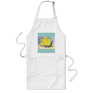 Orca Killer Whale Fantasy with Hearts and Stars Long Apron
