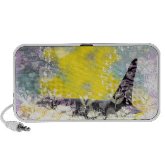 Orca Killer Whale Fantasy with Hearts and Stars Laptop Speaker
