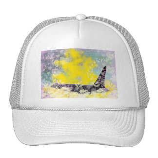 Orca Killer Whale Fantasy with Hearts and Stars Trucker Hat