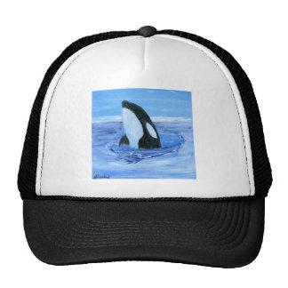 Orca killer whale mesh hats