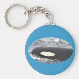 Orca Killer Whale Head - Oval Basic Round Button Keychain