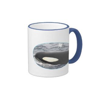 Orca Killer Whale Head - Oval Ringer Mug