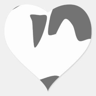 orca killer whale heart sticker