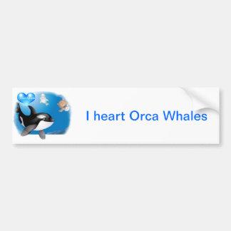 Orca (Killer Whale) I heart designs Bumper Sticker