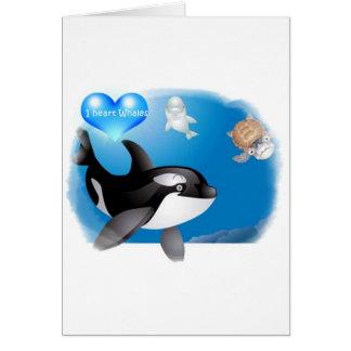 Orca (Killer Whale) I heart designs Card