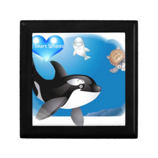 Orca Killer Whale I heart designs Gift Boxes