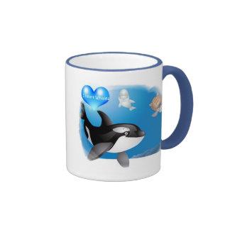 Orca (Killer Whale) I heart designs Ringer Coffee Mug