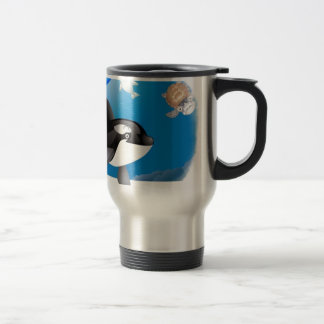 Orca (Killer Whale) I heart designs 15 Oz Stainless Steel Travel Mug