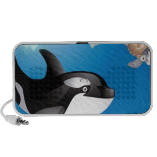 Orca (Killer Whale) I heart designs PC Speakers
