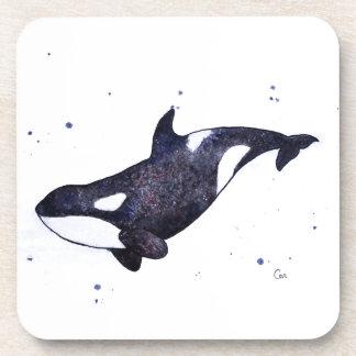 Orca Killer whale illustration Beverage Coaster