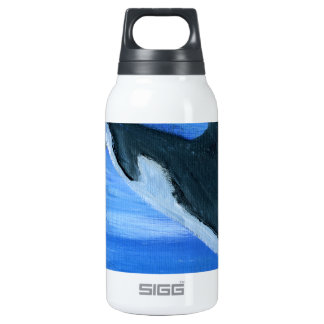 Orca killer whale insulated water bottle