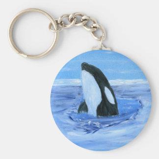 Orca killer whale key chain
