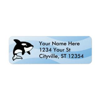 Orca / Killer Whale Label