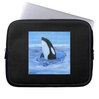 Orca killer whale laptop computer sleeve