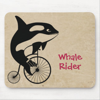 Orca Killer Whale on Vintage Bike Mouse Pad