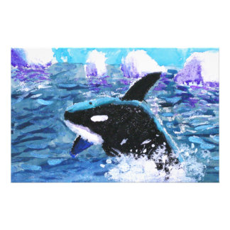 Orca Killer Whale Painting Stationery