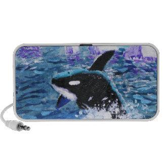 Orca Killer Whale Painting Travelling Speaker