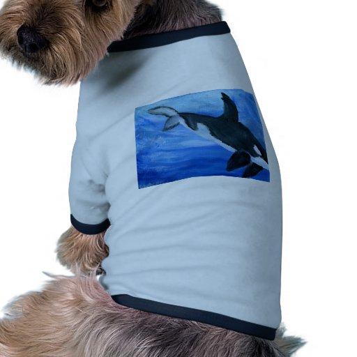 Orca killer whale pet t shirt