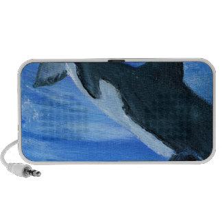 Orca killer whale portable speaker
