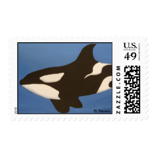Orca Killer Whale Postage Stamp