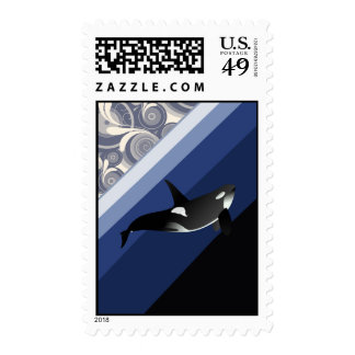 Orca Killer Whale Stamp
