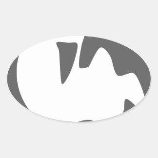orca killer whale oval sticker