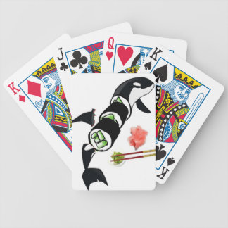 Orca killer whale sushi cards bicycle playing cards