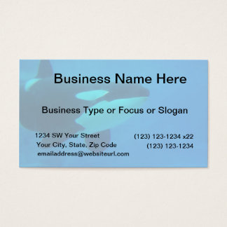 orca killer whale underwater blue business card