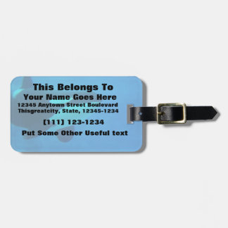 orca killer whale underwater blue luggage tag