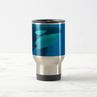 orca killer whale underwater blue 15 oz stainless steel travel mug