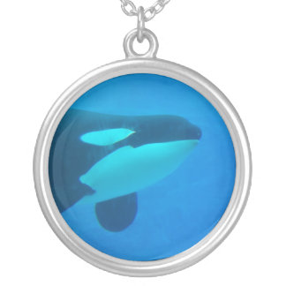 orca killer whale underwater blue necklace