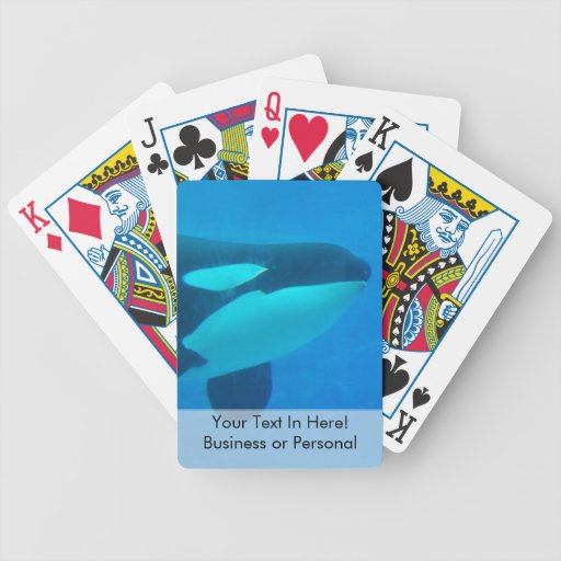 orca killer whale underwater blue bicycle card deck