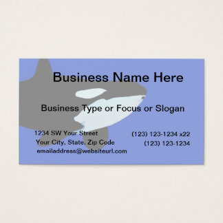 orca killer whale underwater graphic business card