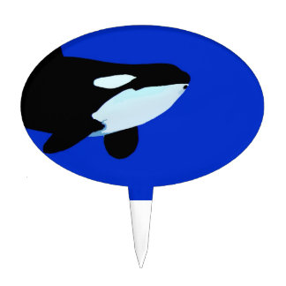 orca killer whale underwater graphic cake topper