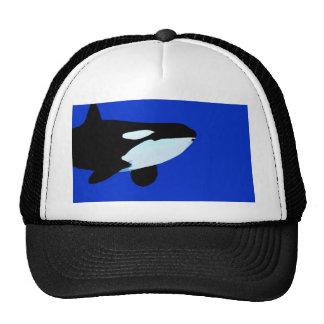 orca killer whale underwater graphic trucker hat