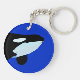 orca killer whale underwater graphic acrylic key chain