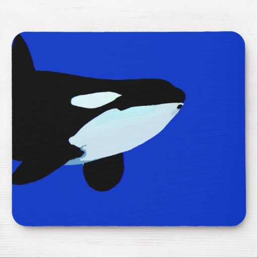 orca killer whale underwater graphic mousepad